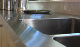 Stainless steel worktops